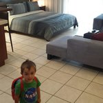 My kiddo's astonished expression at how big the room is!