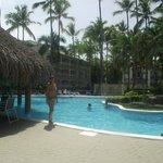 En la piscina principal