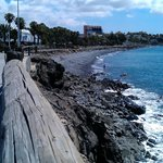 View of the beach, volcanic sand, nice