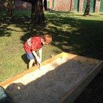 Archeology 'dig' as part of the program at Aiken-Rhett House