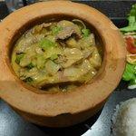 Sauté de bœuf coco curry rouge
