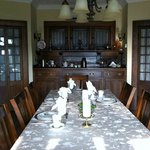 The dining room: Beautifully restored to its original 1908 styling.