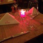 Le Roi, een gedekte tafel voor een superbe lunch of diner
