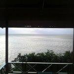 Magnifique vue depuis le bungalow