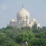 Amazing view of the Taj Mahal from our room, after all, this is what you came to Agra for!