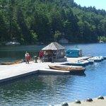 The boat dock