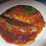 Rosti with grilled farmers sausage