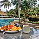 Beautiful view of Breakfast by Pool from my Instagram