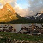 Many Glacier Lodge at dawn
