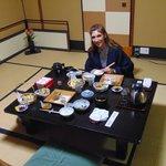 Cena giapponese nel ryokan