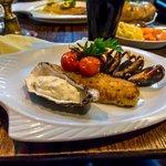 Pan roast haddock with roast tomatoes