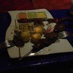 Corazón de res y yuca rellena de queso en Ayahuasca