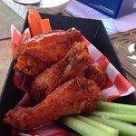 Hot wings. Good flavor