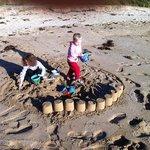 Even in winter, the kids loved making sandcastles