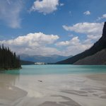The View from the opposite end of Lake Louise, hotel in background