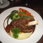 Our mouthwatering lamb shank.