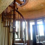 Landoll Suite - spiral stairs leading to deck surrounding tower