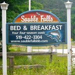 Sauble Falls B&B sign