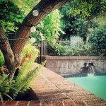 Vista da piscina.