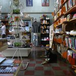Postcards, clothing, stickers, coffee and Granada's best selection of books