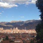 Vista desde el balcón en el día a la Plaza de Armas