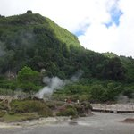 Geysers where traditional meals are cooked below ground