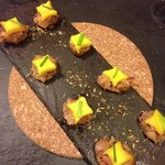 Sausage with mango appetizer