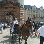 coche de caballo de una boda