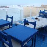 Terrasse avec vue directe sur l'océan