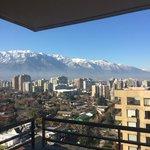 Sacada com vista para a Cordilheira dos Andes