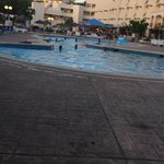 Pool side was lovely