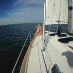 Spacious foredeck