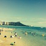 short walk down to beach