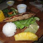 Tuna steak main dish