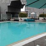 Pool looking towards mall