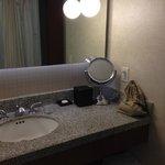 Hairdryer etc in bathroom