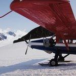 landing on glacier