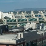 View of convention center and Pt. Loma in the back.