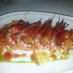 Italian red sea shrimp pasta w/ red sauce