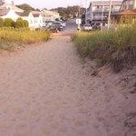 Beach view of Bldg F