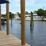 View from outdoor dining area at Dockside Grille, Vero Beach, Florida