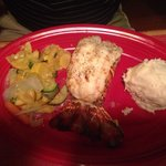 Lobster tail dinner $30.99. As you can see, was NOT worth that amount of money!!