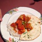 Chicken Tikka Masala and Garlic Naan/Rice