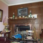 Living Room, where guests visit for social gatherings, evening treat with music by Ms. Mary