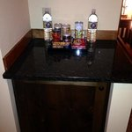 minibar, plus there was a safe in the cabinet below