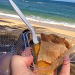 Perfect pie on the perfect beach!