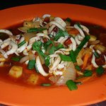 Sweet and sour sotong - average taste.