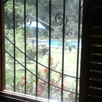 Vue de notre chambre côté piscine