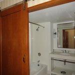 Slider bathroom door