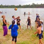 Fun and games at the lake
